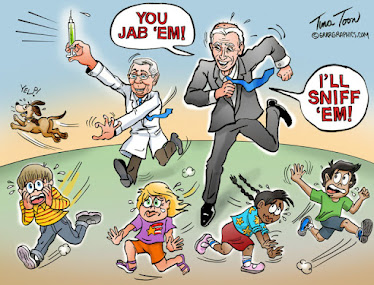 Jab and Sniff - Fauci and Biden