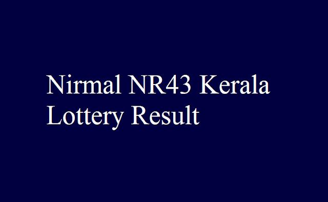 Nirmal NR43 Kerala Lottery Result