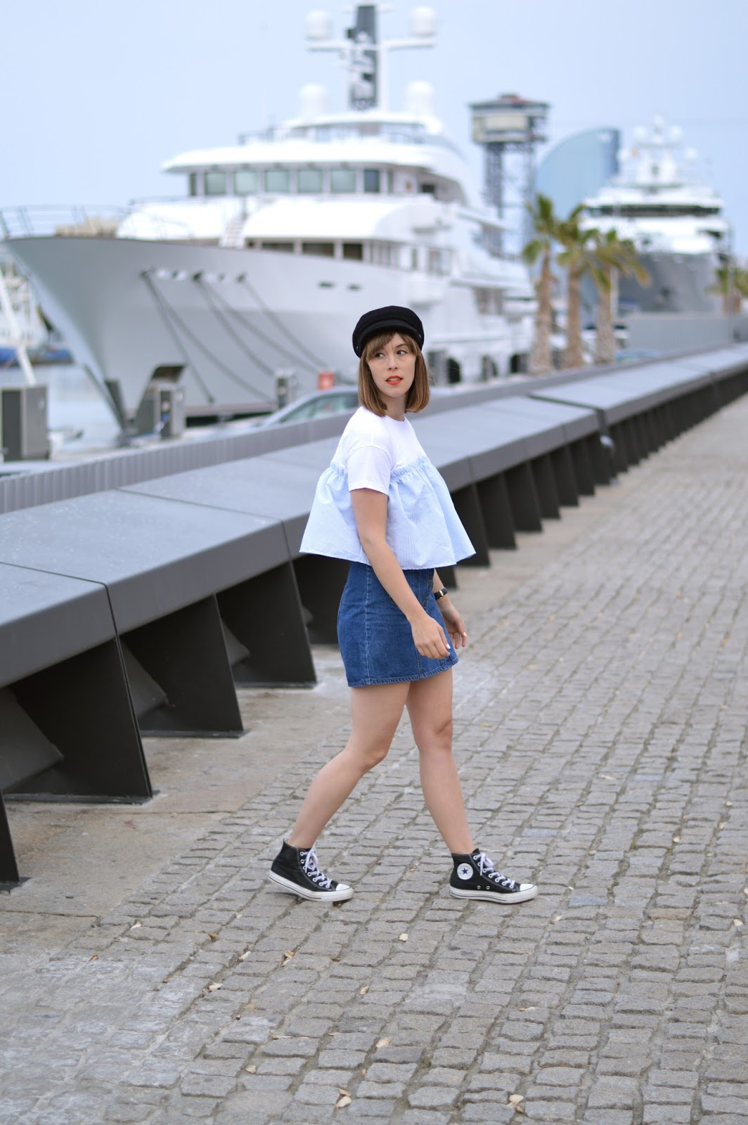 How to wear SS16 trends sailor stripes, ruffles and denim