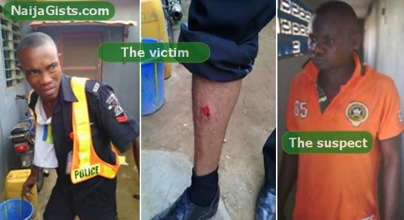 man beats officer tears uniform