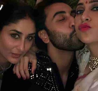 Ranbir Kapoor With Kareena & Karisma Kapoor