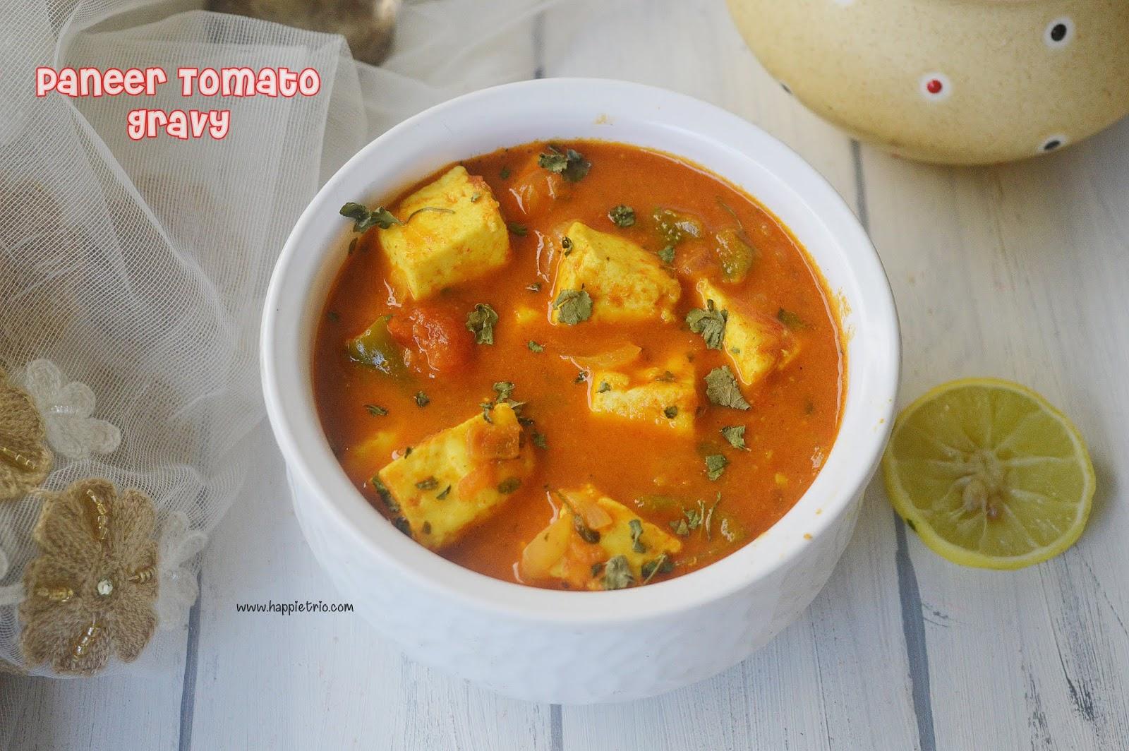 Paneer Tomato Gravy Recipe | Paneer Gravy
