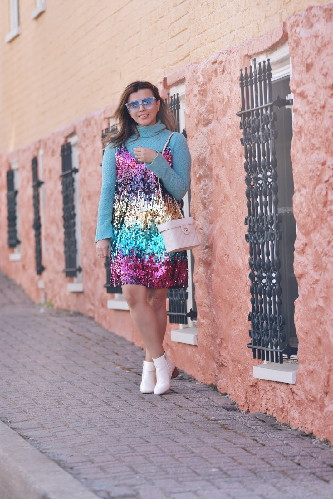 Colorful Sequin Cami Dress-Mari Estilo-DCBlogger