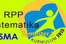 RPP K13 Matematika SMA/MA Kelas X Semester 1