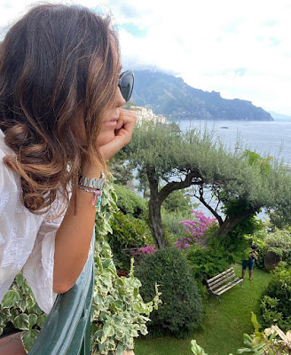 foto Caterina Balivo panoramica Amalfi