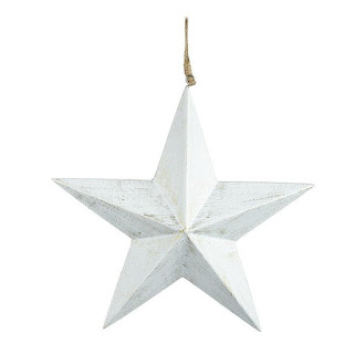 White hanging star decoration