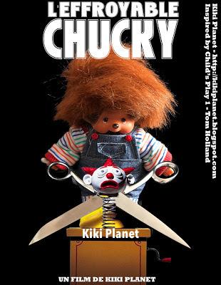 kiki monchhichi chucky, poupée tueuse, andy barclay, film d'horreur, halloween,parodie, toys life