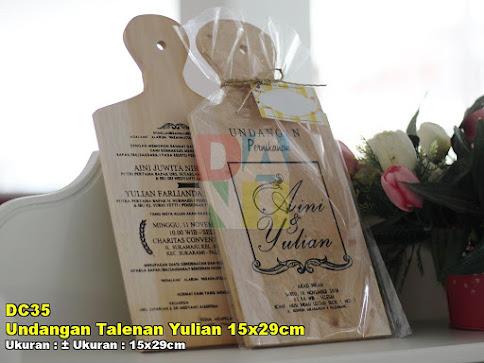 Undangan Talenan Yulian 15x29cm