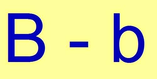 Uso de la letra b for La b b