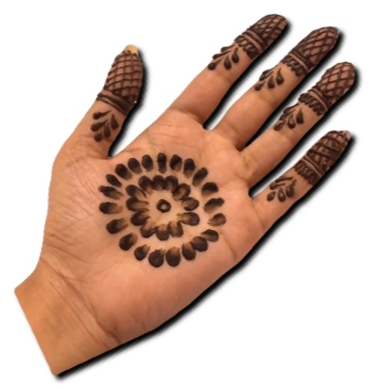 Simple and Easy Mehndi Design Front