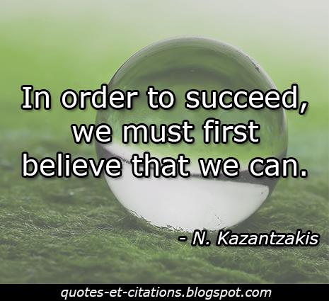 citation croire au succès