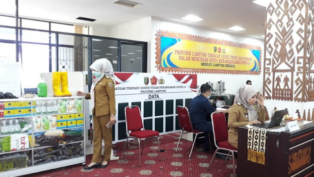 Posko Gugus Tugas Terpadu Penanganan Covid-19 provinsi Lampung
