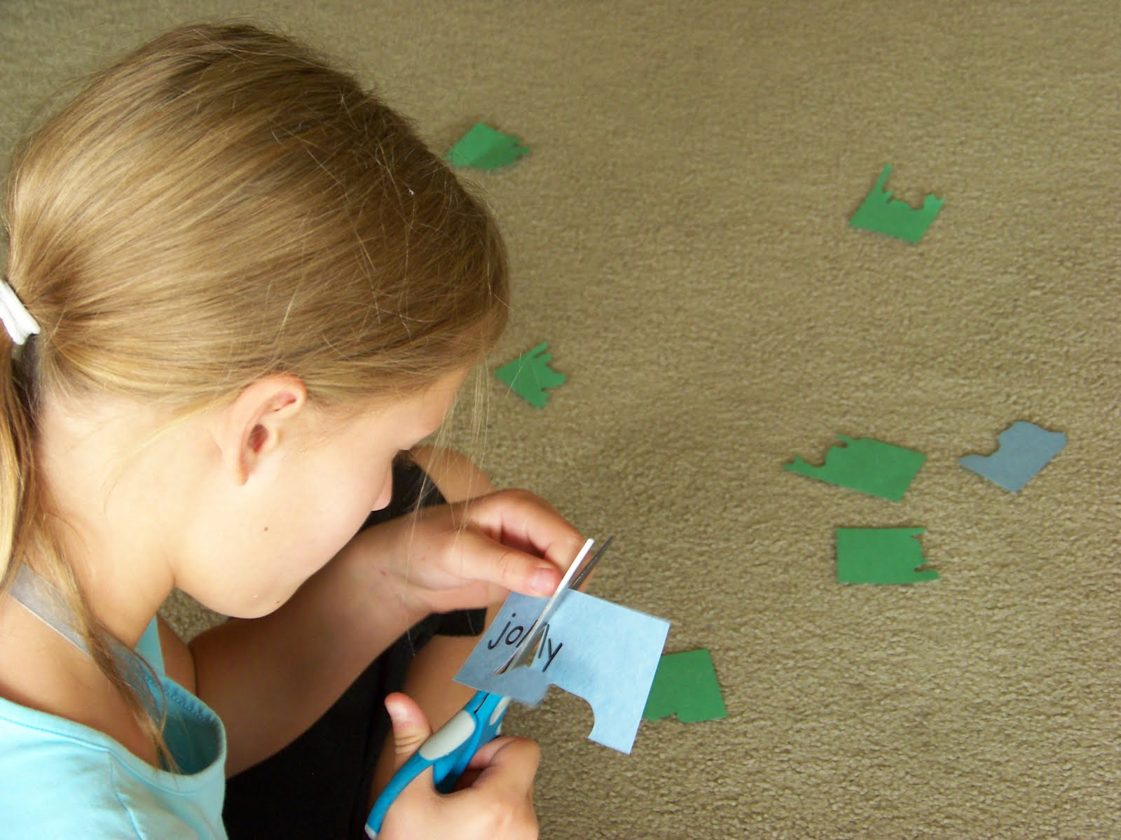 Our Fun Homeschool Jigsaw Words Dividing Words Into