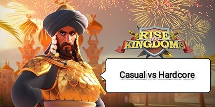 casual player rise of kingdoms rok