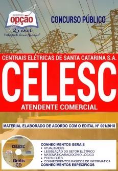 Apostila Concurso CELESC 2018 Atendente Comercial