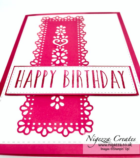 Nigezza Creates with Stampin' Up! Ornate Layers for Joy Of Sets Blog Hop Tutorial: Ornate Layers Elegant Birthday Card