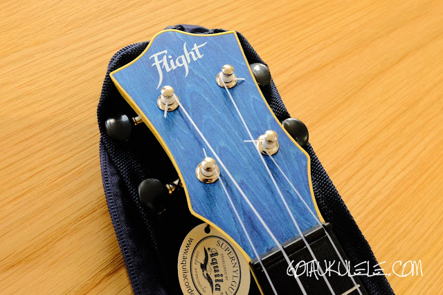 Flight TUSL-35 Concert Scale Soprano Ukulele headstock