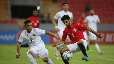 مباراة فلسطين واليمن الان