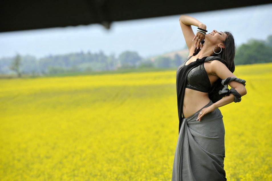 Kajal Agarwal In Black Saree Photos