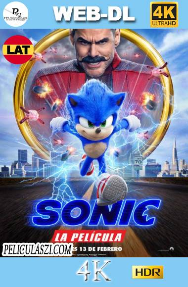 Sonic, La Película (2020) Ultra HD WEB-DL 4K HDR Dual-Latino