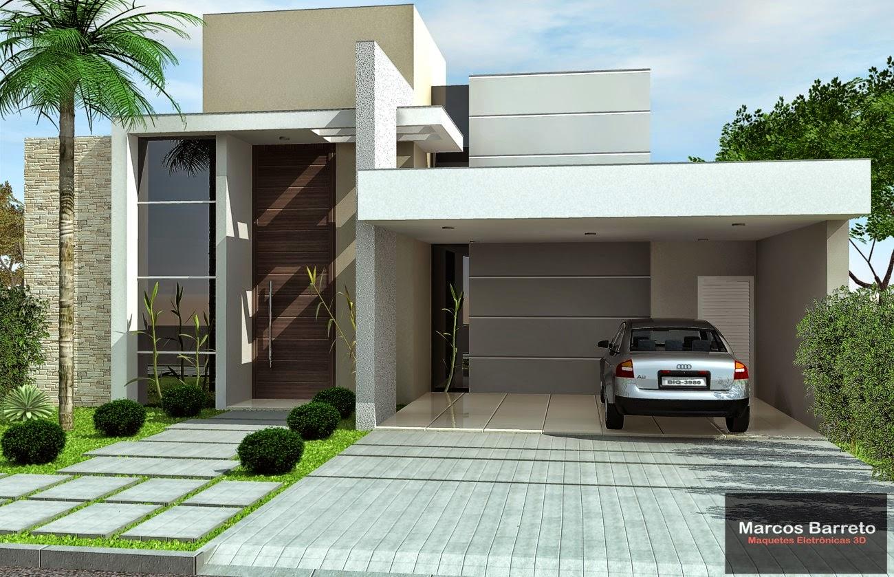 25 Desain Rumah Minimalis Modern 1 Lantai (3 Dimensi) - Marcos Barreto