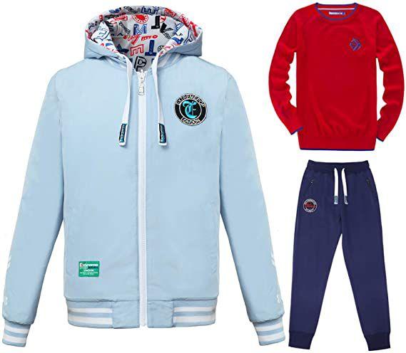 3-piece set with reversible sportswear jacket