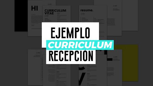 Muestra de curriculum vitae de recepción