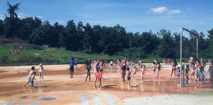 Aire de jeux d'eau - parc des Chanteraines