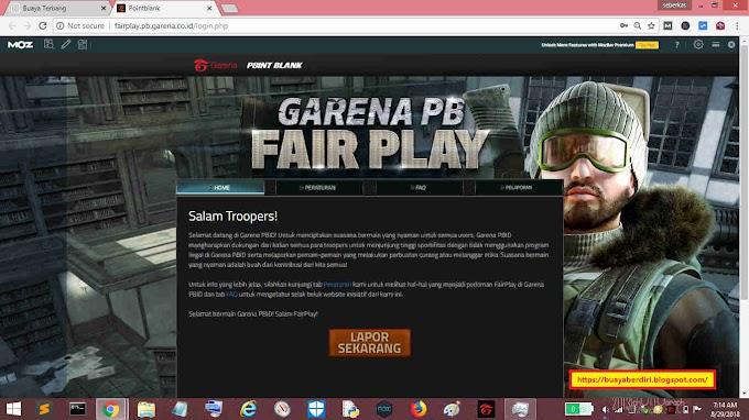 Cara Lapor Cheater Game Garena PB Evo Indonesia