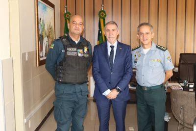 Comandante-geral recebe visita do conselheiro da Embaixada da Espanha