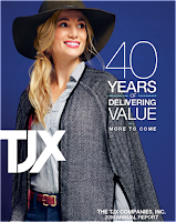 Front page of the annual 2016 report from TJX