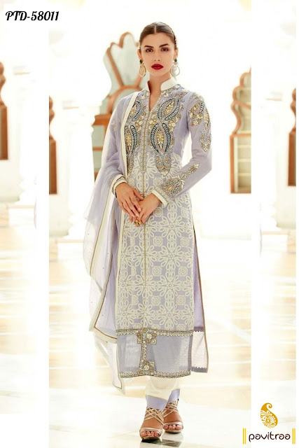 white georgette pakistani fashion bridal salwar suit online shopping with lowest price