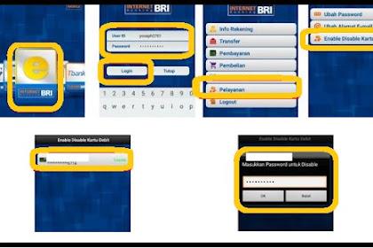 Cara Blokir Sementara Kartu ATM BRI Pakai Internet Dan Mobile Banking