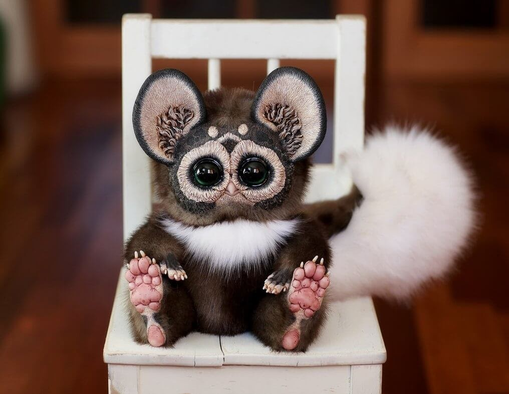 12-Tiny-Griffin-Lemur-Spotted-Brown-Santaniel-Santani-Dolls-of-Little-Fantasy-Russian-Creatures-www-designstack-co