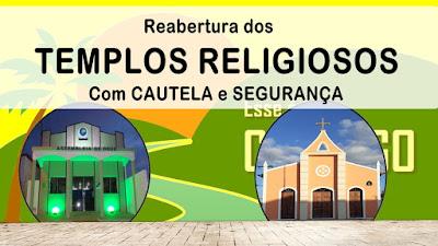 Templos religiosos podem ser reabertos