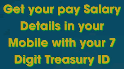 AP Employee PAY DETAILS- Enter your employee ID then you will get your  pay details  Get your Salary Details in your Mobile with your 7 Digit Treasury ID