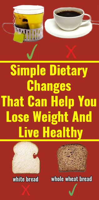 4 Simple Dietary Changes That Can Help You Lose Weight And Live Healthy