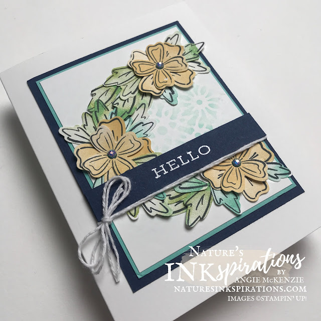 By Angie McKenzie for the Crafty Collaborations Technique Tuesday Blog Hop; Click READ or VISIT to go to my blog for details! Featuring the Stampin' Up! Flowers & Leaves Punch included with the Flowers of Friendship Bundle along with the Watercolor Shapes and Forever Fern Stamp Sets from the 2021-2022 Annual Catalog; #encouragementcard #stamping #papercrafting #techniquetuesday #techniquetuesdaybloghop #flowersandleaves #flowersoffriendship #watercolorshapes #foreverfern #blending #vellumdoiliesmask #2021annualcatalog #punches #wreathcards #cardtechniques #stampinup #diy #handmadecard #naturesinkspirations #makingotherssmileonecreationatatime