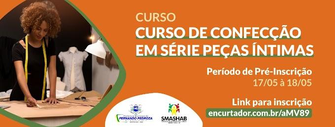 Prefeitura de Fernando Pedroza abre inscrição para curso técnico de costura