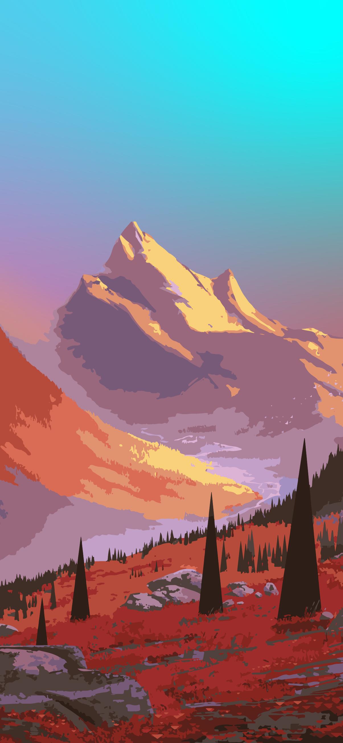 Iphone wallpaper - Beautiful landscape mountain