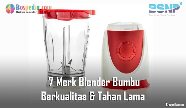 7 Merk Blender Bumbu Berkualitas & Tahan Lama - Sumber: freepik
