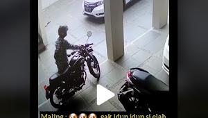 Viral Video Gagal Maling Motor, Bikin Tepuk Jidad