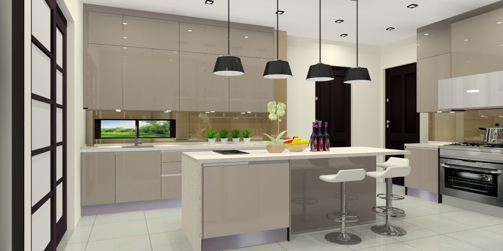 ceiling high kitchen cabinets meridian interior design and kitchen design in kuala 5149