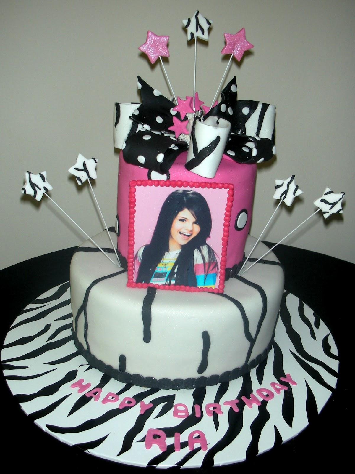 Harshi S Cakes Amp Bakes Selena Gomez Theme Birthday Cake