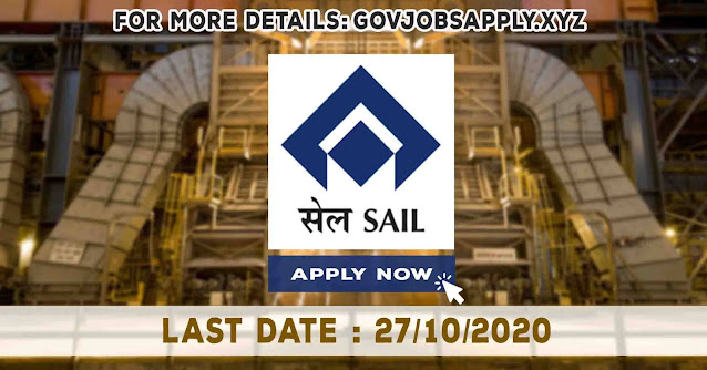 Steel Authority of India Limited Doctors Job Recruitment Notification Details 2020   Last Date 27th October 2020