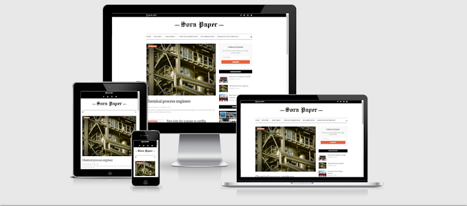 Sora Paper Premium Blogger Template - Free Download