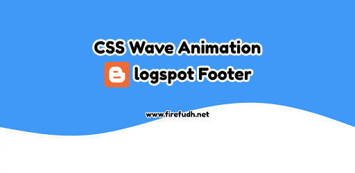 CSS Wave Animation, Blogspot Footer