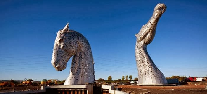 The making of The Kelpies, Head of Two Horse