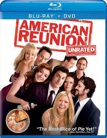 Poster Of American Pie Reunion 2012 Dual Audio 350MB BRRip 480p - UNRATED Free Download Watch Online