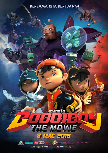 Boboiboy The Movie (2016) DVDRip 720p Subtitle Indonesia